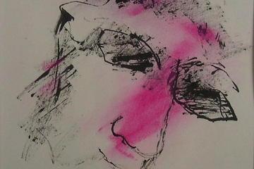 Roze portret
